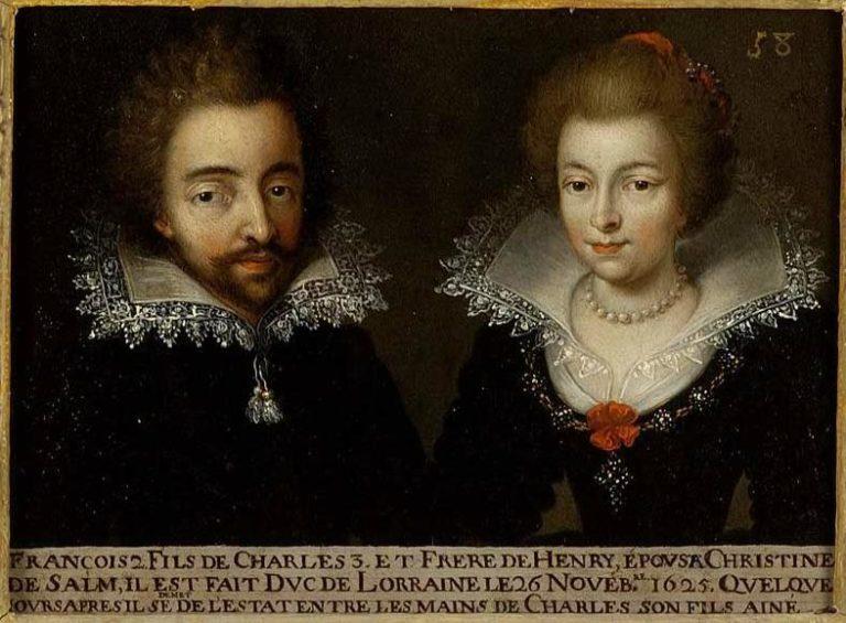 58. François II duc de Lorraine et son épouse Christine de Salm