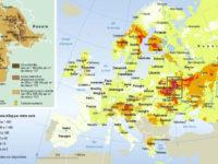 Les retombées radioactives de Tchernobyl en Europe